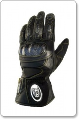 R&G Leather Deluxe Motorcycle Gloves - Black