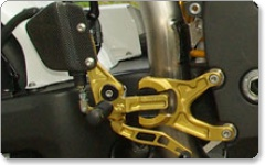 Aprilia RS125 / RS250 96> Rearsets by Gilles Tooling