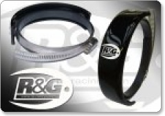 Supermoto Style Exhaust Can Protector by R&G - Oval or Round