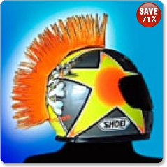 Orange Mohawk Helmet Sticker