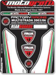 Motografix Ducati Multistrada Rear Number Boards  2003 - 2007