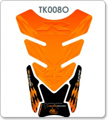 Kawasaki K Racing Quadrapad Orange Tank Pad