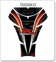 Suzuki Black/Orange R Sports Series Tank Pad