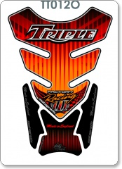 Triumph - Quadpad - Orange Tank Pad