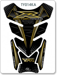 YAMAHA YFR DESIGN BLACK/GOLD TANK PAD