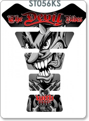 THE DEVIL RIDES BLACK/SILVER TANK PAD