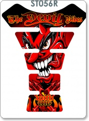 THE DEVIL RIDES RED TANK PAD