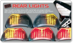 Honda Clear Lens LED Rear Lights with Integral Indicators