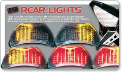Ducati Clear Lens LED Rear Lights with Integral Indicators