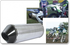 Viper Universal MX / Quad Exhaust Can (39cm Stubby Can)