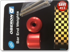 Suzuki GSXR600 750 1000 2001  Red Bar End Weights by Oberon