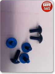 Dome Head Fairing Bolts - BLUE by Pro Bolt