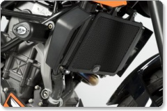 KTM 125 DUKE 2011 on R&G Radiator Guard RAD0108BK