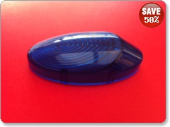 Replacement Indicator Lens for Mototeck undertray-BLUE