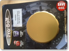 Pro Bolt Round Rear Reservoir Cap gold RESR80G