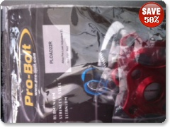 Pro Bolt Alloy Pre-Load Adjusters 22mm PLOAD22R Red