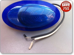 Graphic Art Moto Design Flushmount Indicator in Blue
