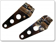 Universal headlight brackets suitable for use on forks up to 35mm.
