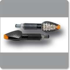 N°18 BLINKER WHITE/ORANGE TRIANGULAR MICRO INDICATOR WITH LED E11 by Ermax