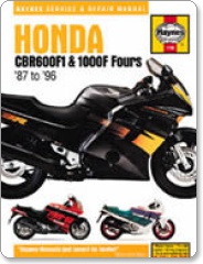 Haynes Honda CBR 600 F1 and 1000F Fours 87-96