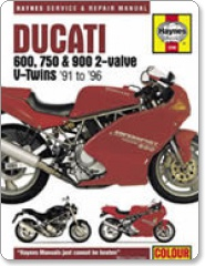 Haynes Ducati 600,620,750 and 900 2-Valve V-Twins Manual