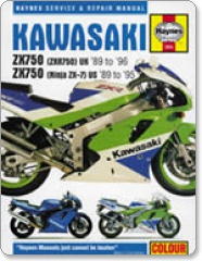 Haynes Kawasaki ZX750 (ZXR750/Ninja ZX-7) UK 89-96/USA 89-95 Manual