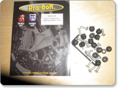 Ducati 748/916/996/998 Side Panel Fairing Bolt Kit by Pro Bolt