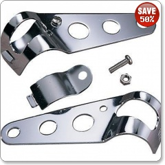 Adjustable Headlight Brackets by Bike It 30-38MM in CHROME