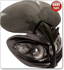 Demon Universal Fairing Headlight in Black